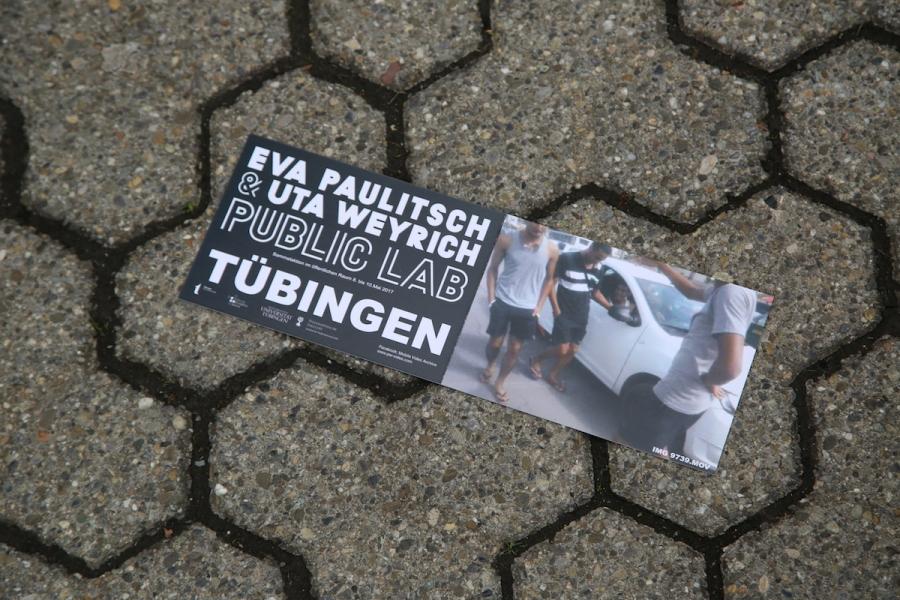 """Flyer zum Kunstprojekt """"Uns gehört die Stadt"""""""
